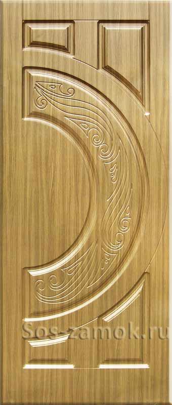 Накладка на дверь цвета бронзовое дерево