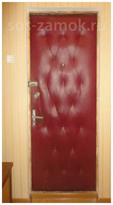 Реставрация металлической двери - вид до