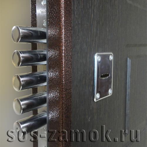 пример замены замка на металлической двери