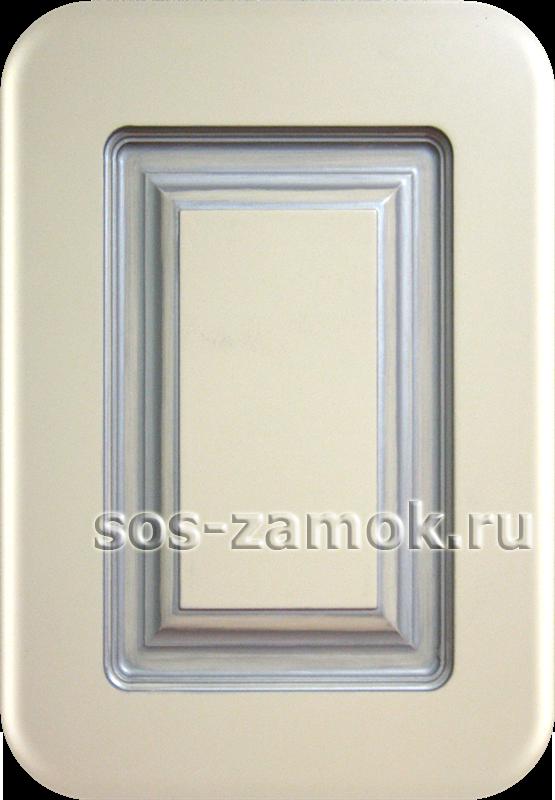накладка на дверь патина серебро