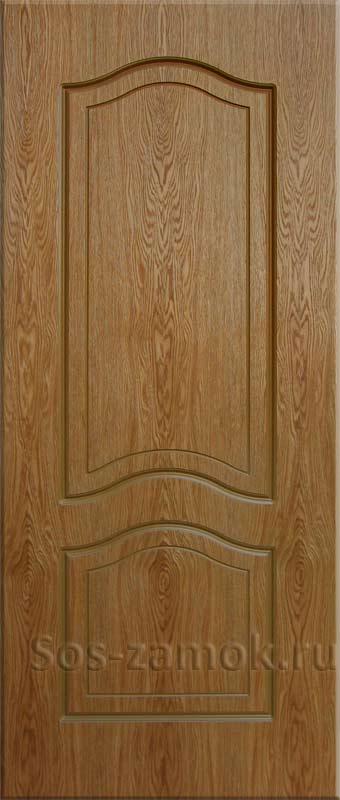 Дверная панель цвета темный дуб