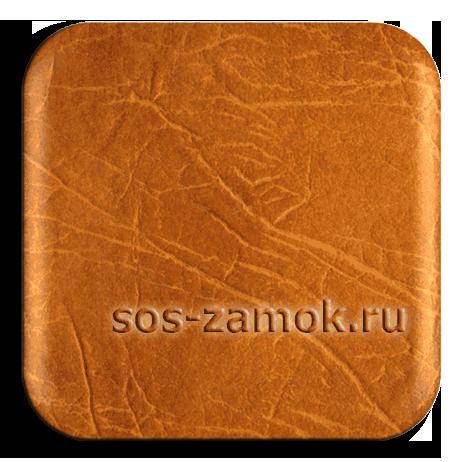 Индийский дермантин глубоко-оранжевого цвета