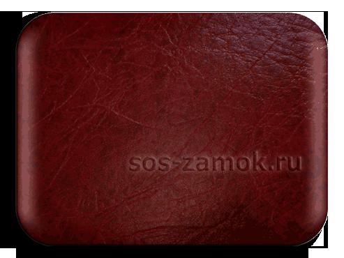 Глубокий бордовый цвет винилискожи на дверь