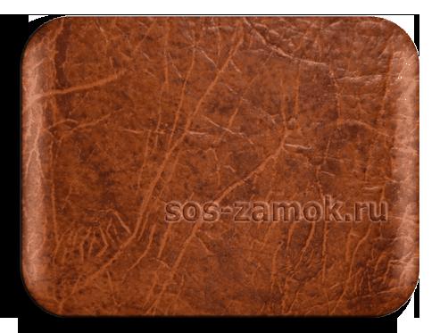 Винилискожа медно-коричневого цвета для обивки двери