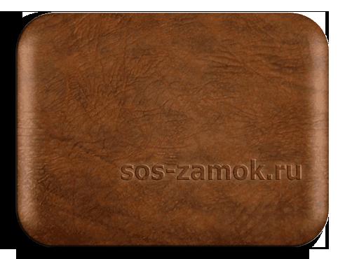 Обшить железную дверь коричневой искожи