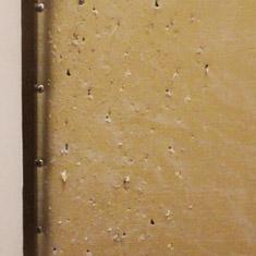 Дверная накладка искарапана когтями кошки