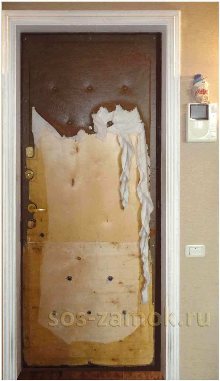 Кошка или собака испортила дверь