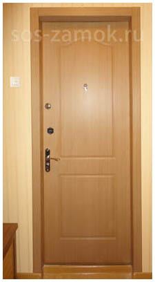 Реставрация металлической двери - вид после