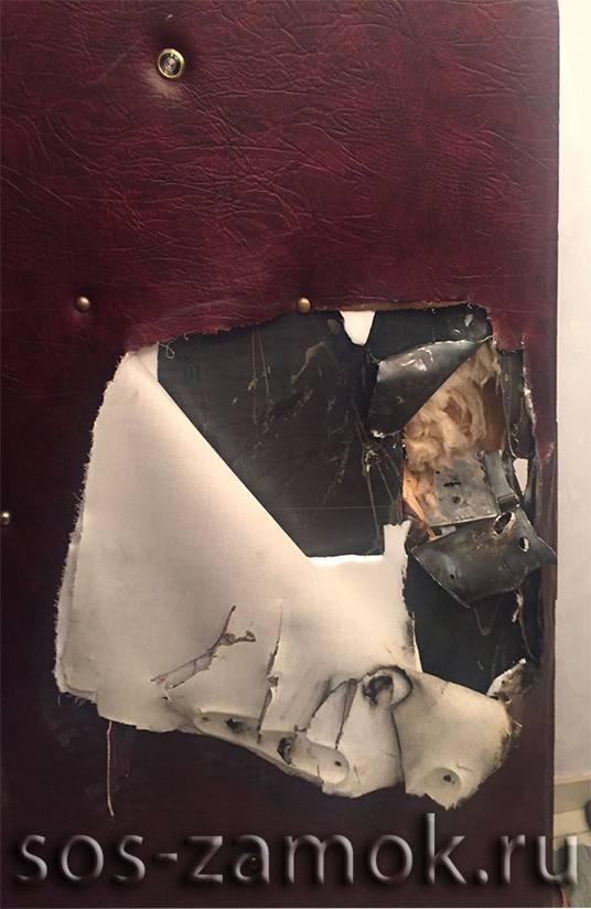 Ремонт металлической двери после взлома