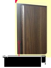 наружный контур уплотнителя двери