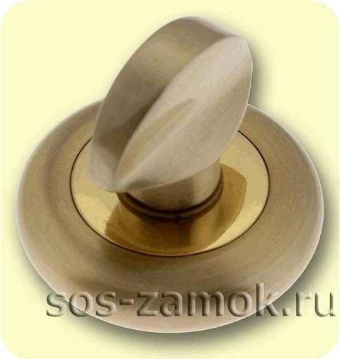 Матово-золотая вертушка для задвижки
